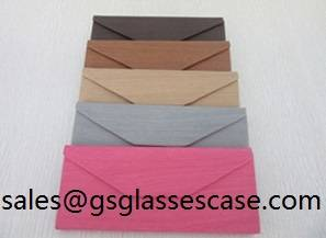 Sell Triangle foldable glasses case hand made sunglasses glasses case