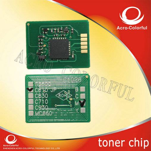 Newest compatible laser printer cartridge toner drum chip for OKI C841