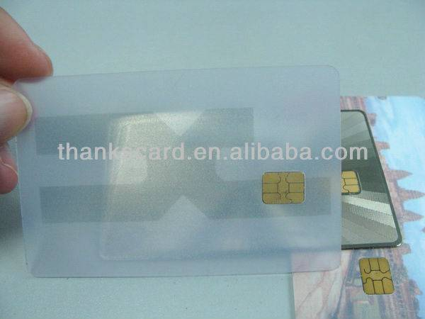 ISO 7816 SLE 5542 SLE5528 Contact IC Chip Card Transparent