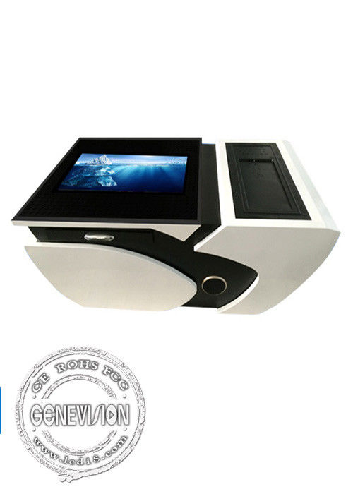 LCD advertising display player , office tea table desk kiosk