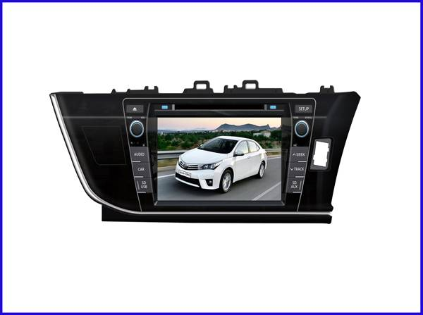 Left side Toyota 2014 New COROLLA car dvd player/car gps navigation/car radio for sale