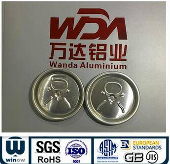 202 Ring Pull Type Aluminum eoe Easy Open Lid for juice can