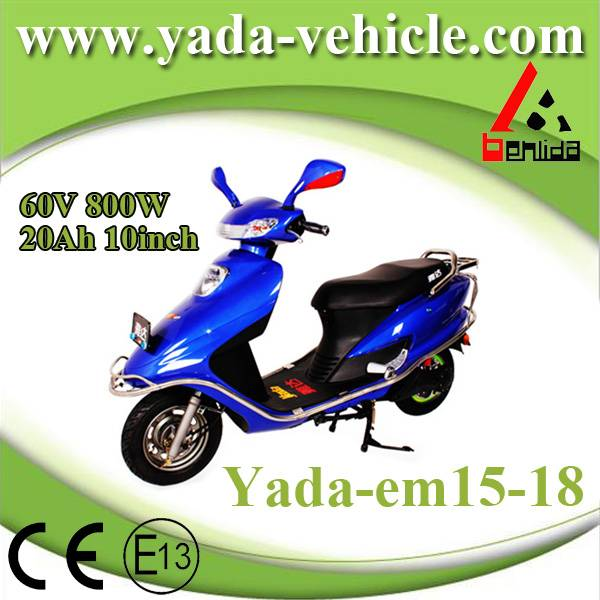 60v 800w 20ah 10inch drum disc brake mini sport style electric scooter motorcycle (yada em15-18)