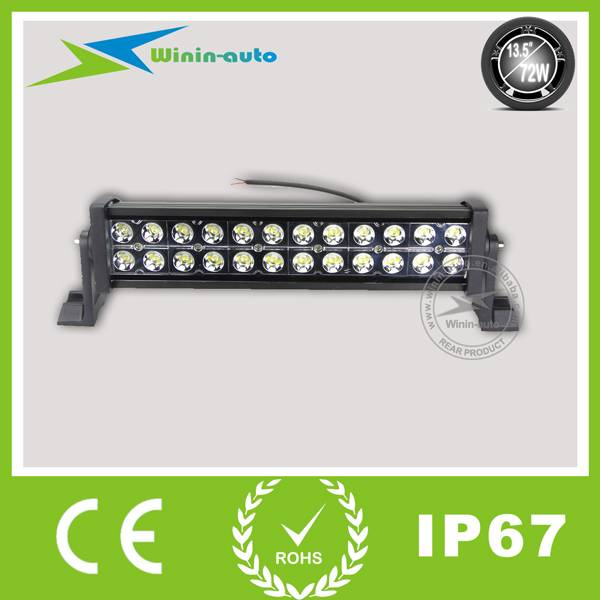 13.5 72W Double Row Cree Work LED Light Bar LED for off-road ATV SUV 4900 Lumen WI9021-72