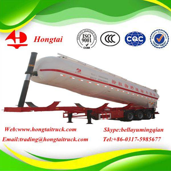 3-axle Medium density bulk powder tanker semi trailer