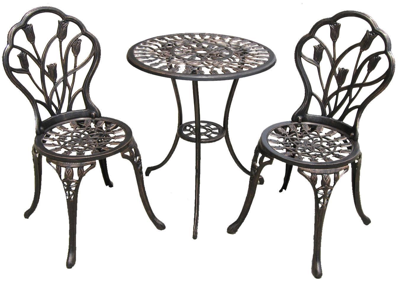 Top cast aluminium3pc bistro table set