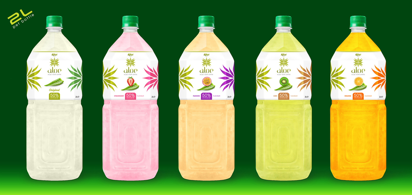 Aloe Vera With Fruit Juice 2000ml Pet Bottle