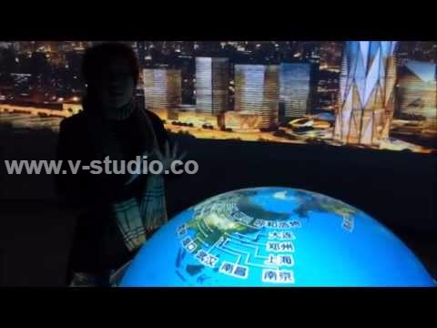 Interactive Spherical Globe Dome