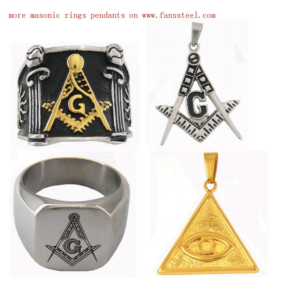 custom made masonic ring on www.fanssteel.com