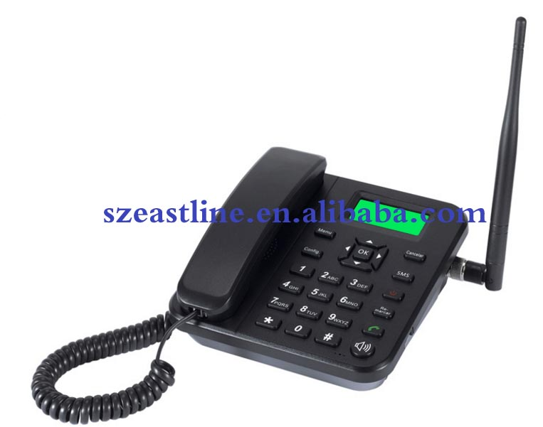 GSM Desktop Single SIM Fixed Wireless Phone with Detachable Antenna