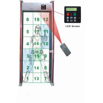 SF-500 18 Zones(LCD) Walk through metal detector