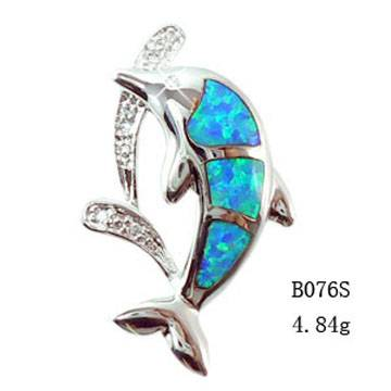 925 sterling silver Opal Set With Opal Inlayed-B076S