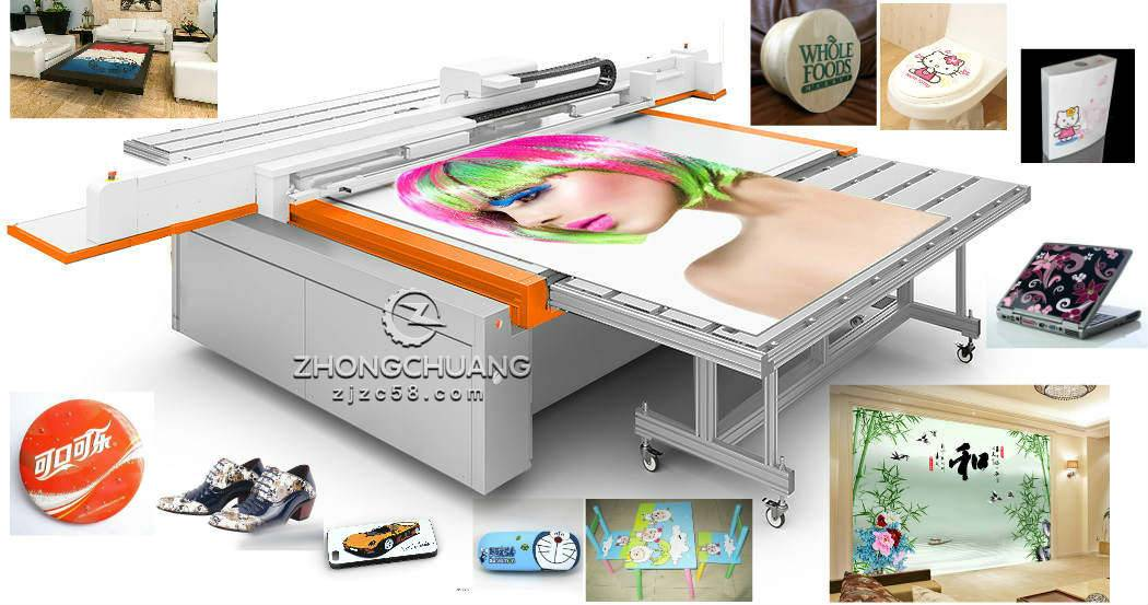 wide format uv flatbed printer for industrial printing