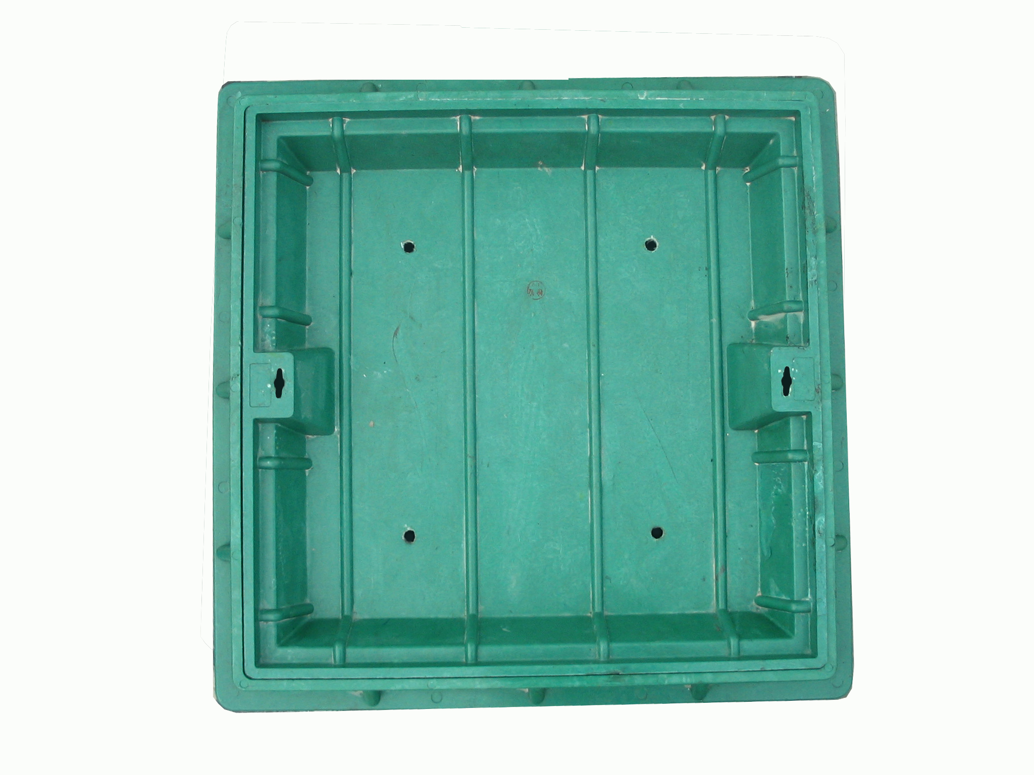 Customized anti-theft smc bmc composite square manhole cover with CE