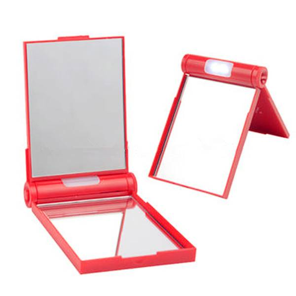 Double-sided LED Lighted Makeup mirror, Made of ABS, Various Designs