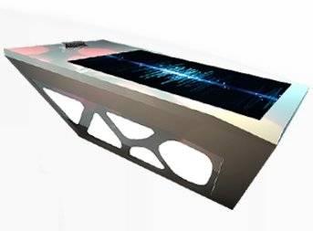 High Touch Screen Resolution 3276732767 LCD Advertising Interactive Table IR Multi Touch 40points (