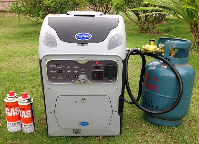 the latest 1KW digital and converter gas generator
