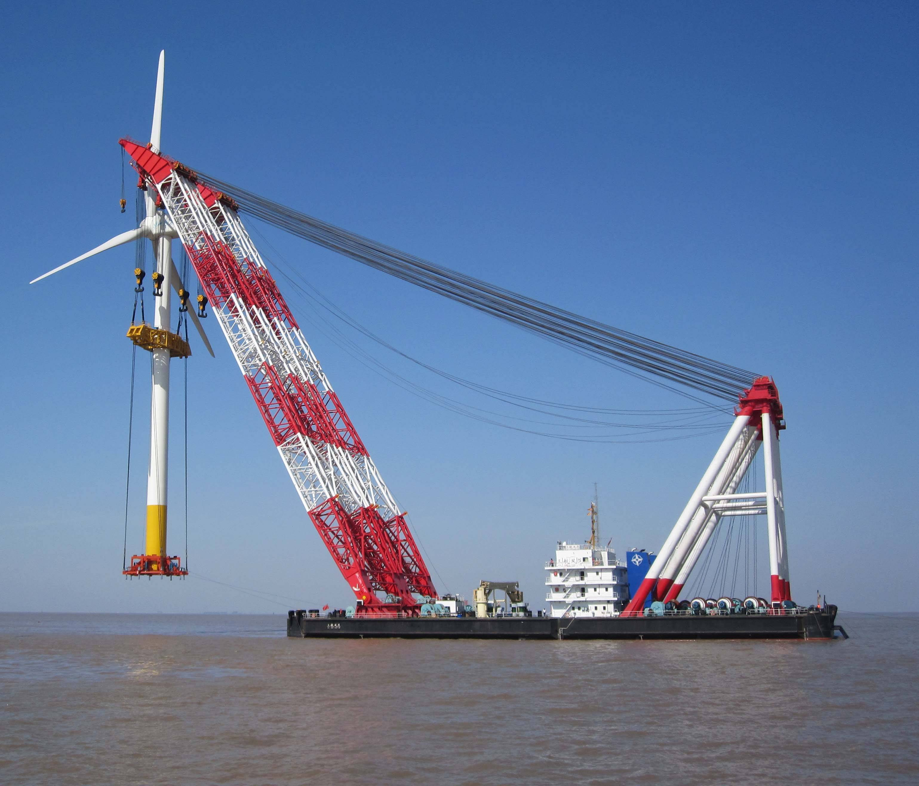 floating crane sell & charter crane barge 1000t 1200t 1500t 1800t 2000t