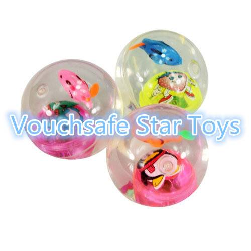 LED light up high bouncing ball toy