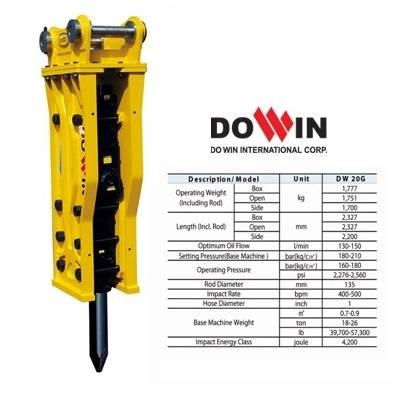 hydraulic breaker, rock hammer DW 20G Open