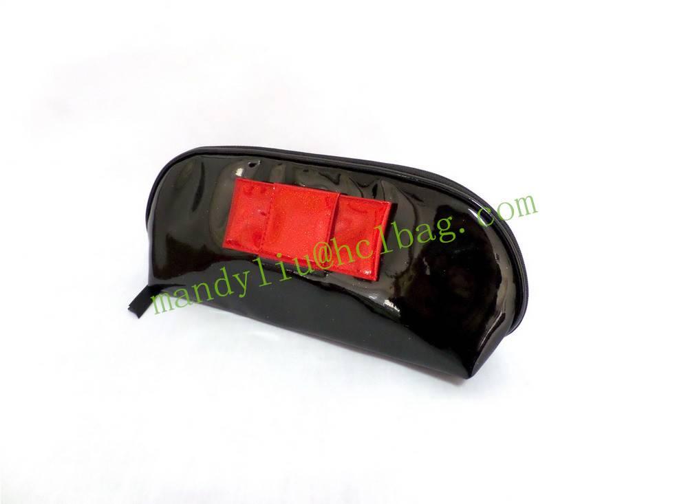 semi round pu cosmetic bag,bulk cosmetic bag, OEM bag factory