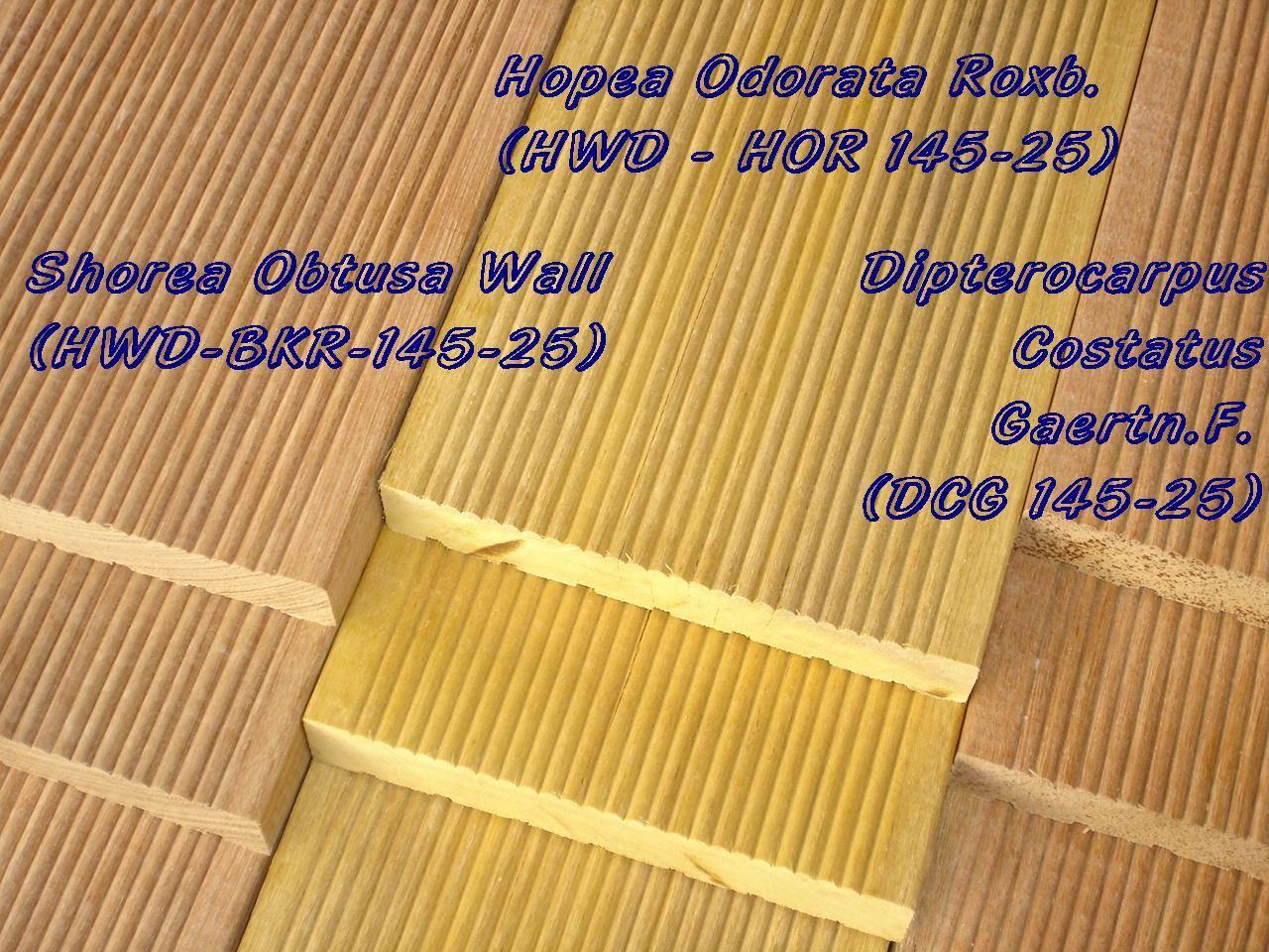 Tropical Hard Wood Reeded Deck Bangkirai Keruing