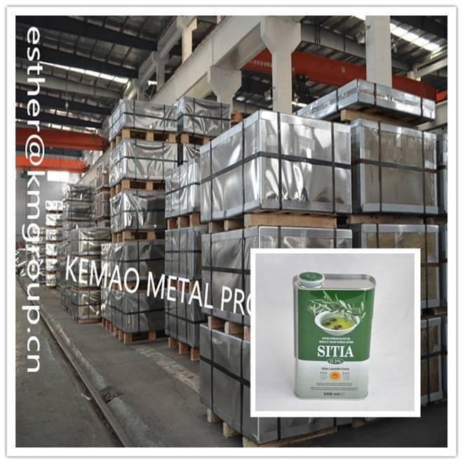 MANUFACTURER JIANGYIN KEMAO TINPLATE FOR OLIVE OIL TIN CANS