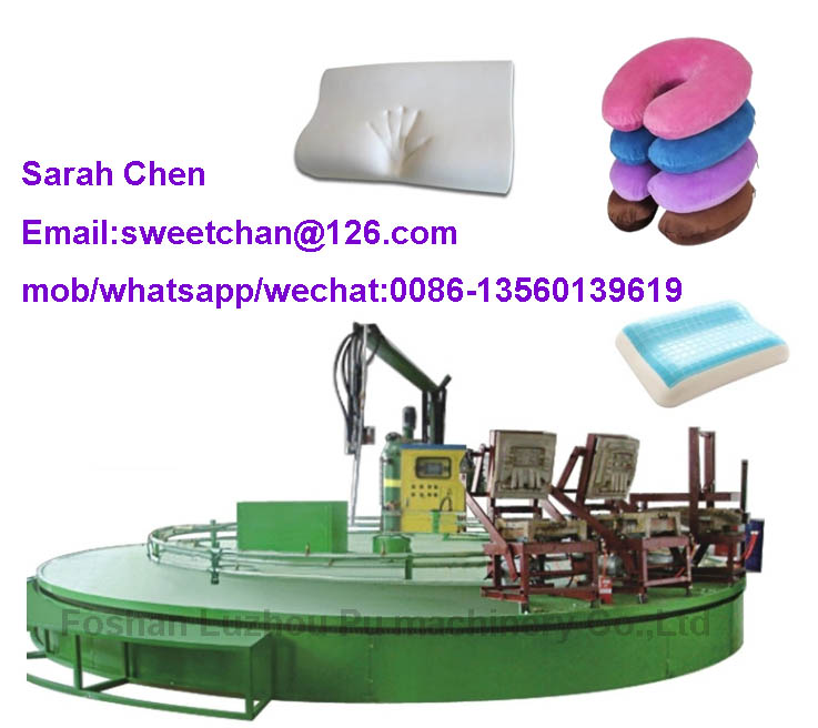 Polyurethane memory pillow foam molding production line
