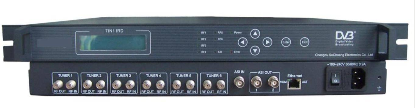 A803 Satellite Receiver with Multiplexer feature