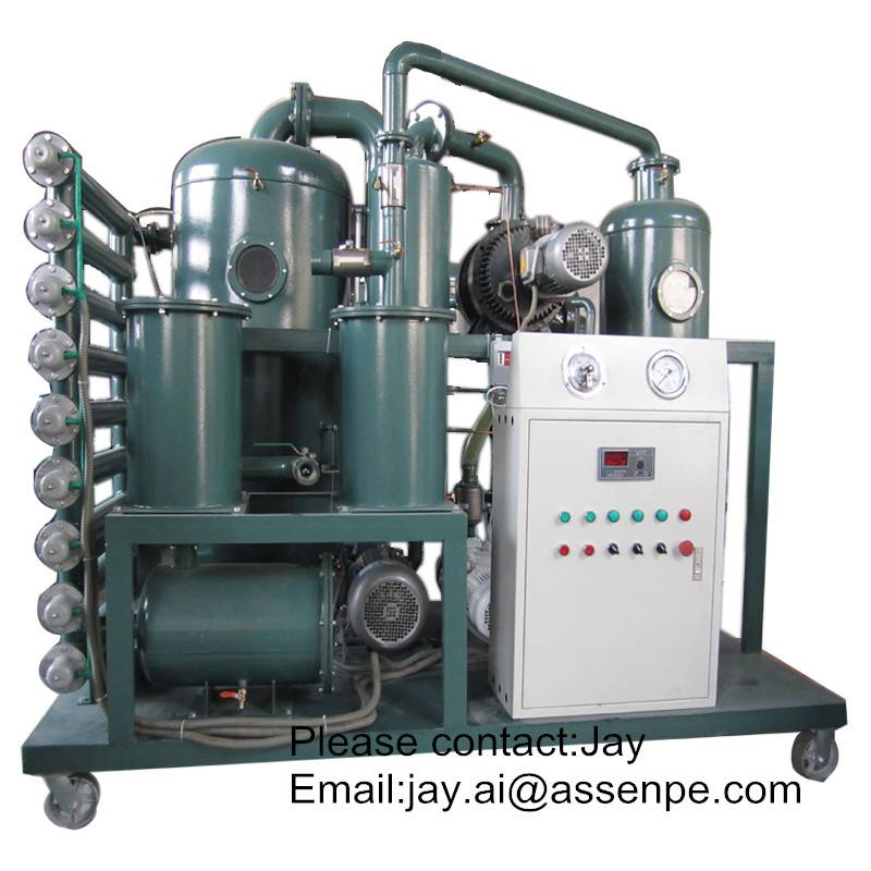 Portable high vacuum transformer oil purifier,Oil Dehydration system Plant