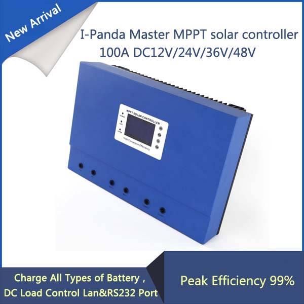 LCD 100A mppt solar charge controller 12V 24V 36V 48V 100A PV regulator charge Solar Battery with Rs