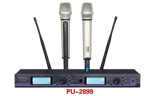 PU-2899 Rechargeable Wireless Microphone With Lcd Display