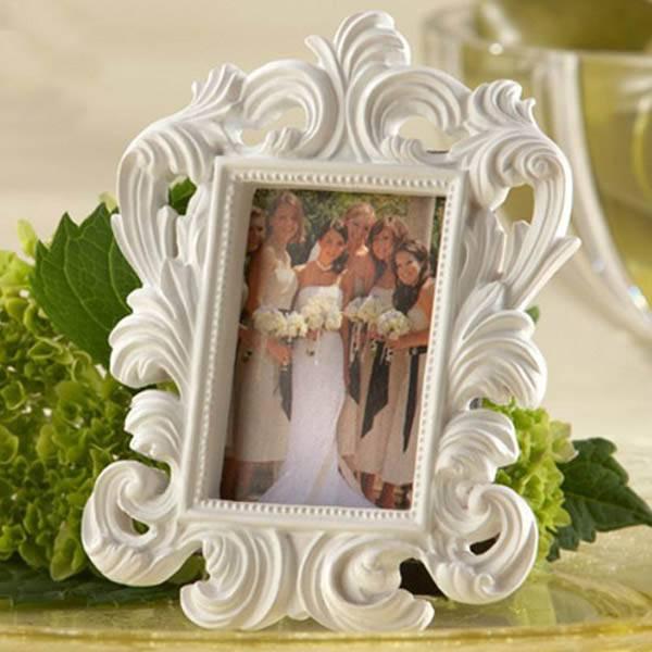 baroque white decorative resin photo picture frame