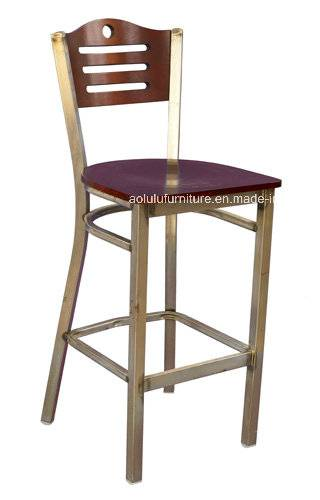 Metal Bar Chair with Vertical Slat Back (ALL-209BS-9)