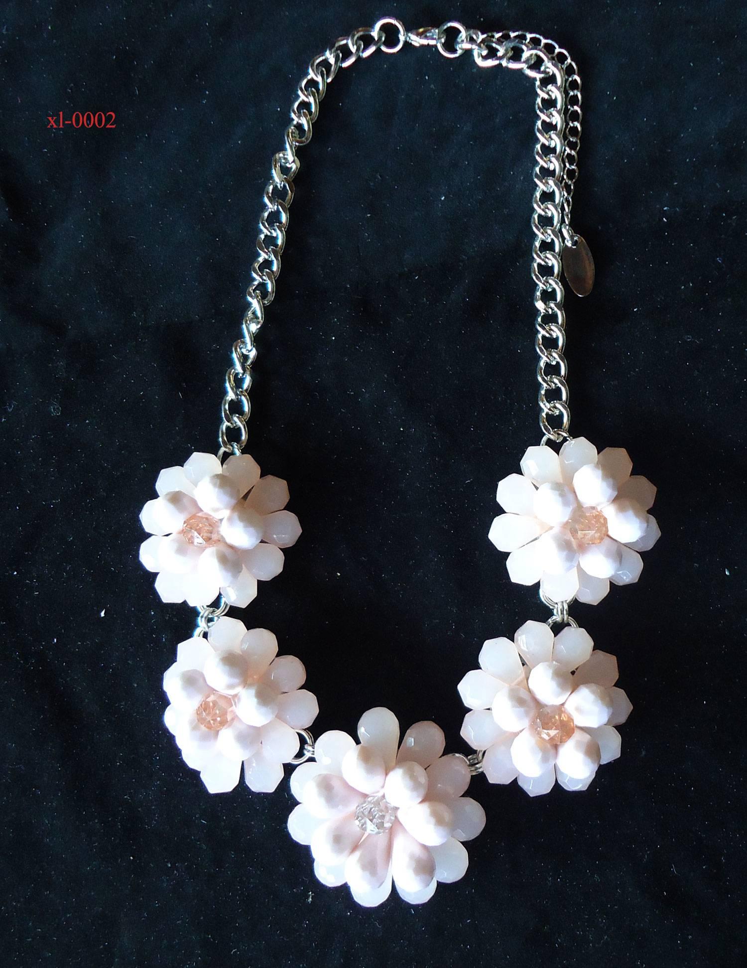 fashion new handmade flower bead necklace