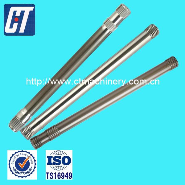 Stainless Steel Spur Gear Splined Shaft Steel Hollow Shaft