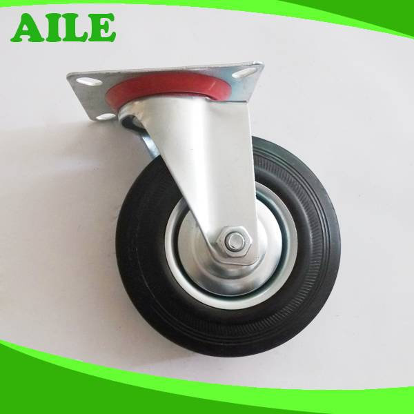 Swivel Black Rubber Caster