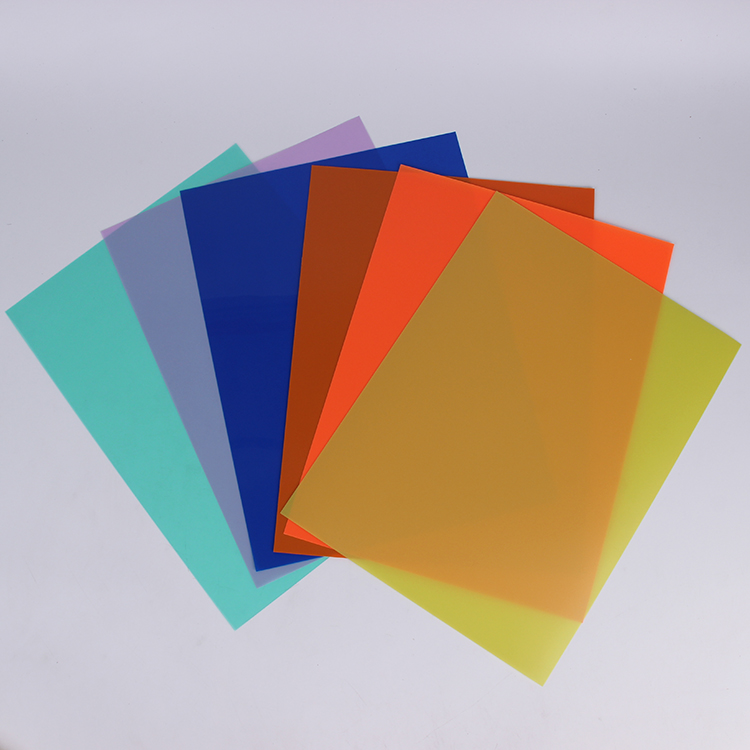 color transparent glossy PP sheet