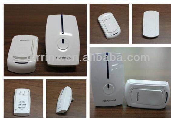 FORRINX DOORBELLS--1 emitter+6 receivers Waterproof 300M Long-range wireless doorbell,wireless door