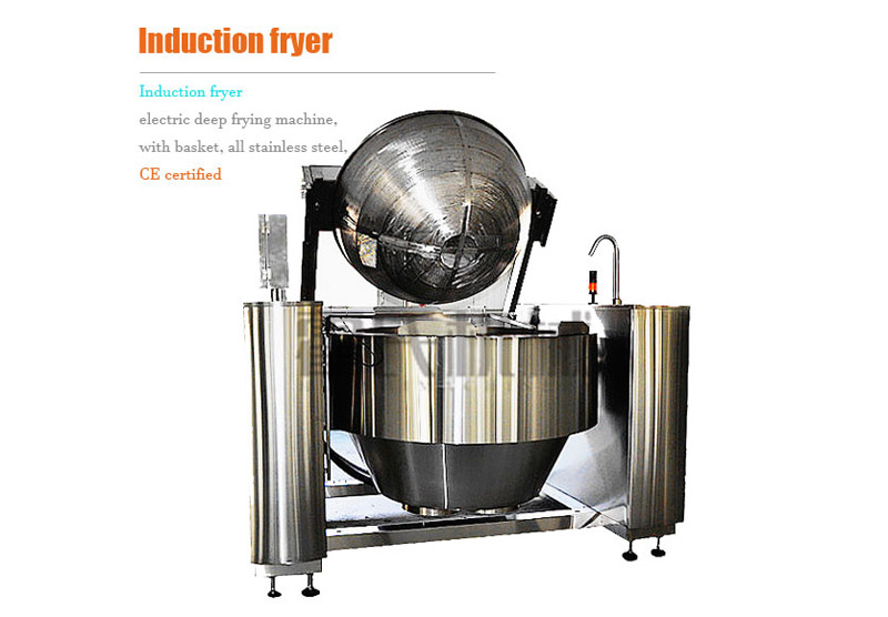 Induction Fryer, Electric Deep Frying Machine, with Basket, All Stainless Steel, CE Certified