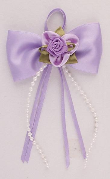 Dress flowers with ribbons