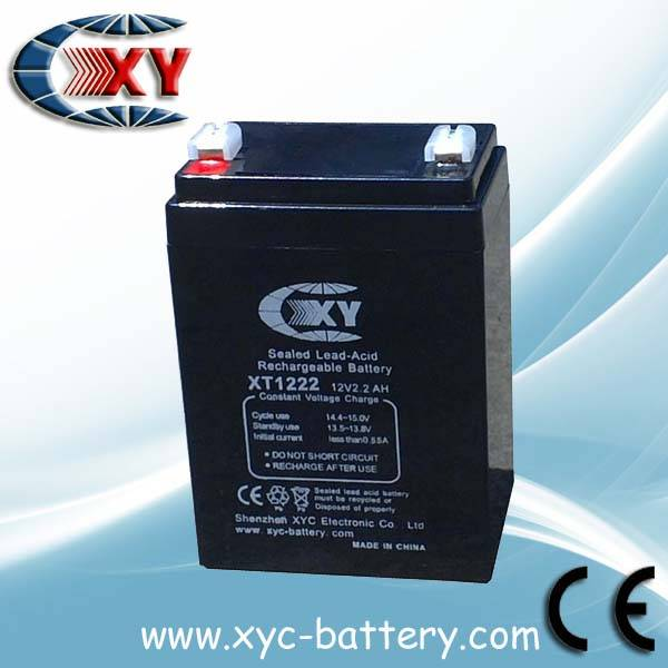 12V2.6AH rechargeable lead acid battery