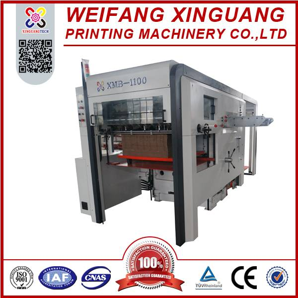 1100mm high speed carton boxes semi automatic platen die cutting machine