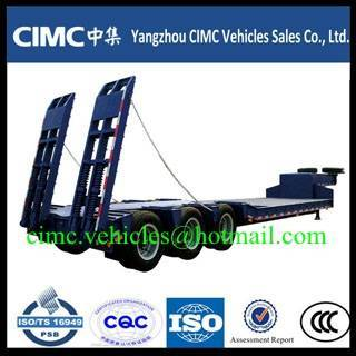 Sell CIMC 3 axle lowbed semi trailer