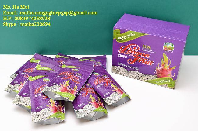 Freeze Dried Dragon Fruit Chips From Vietnam High Quality Sugar Free