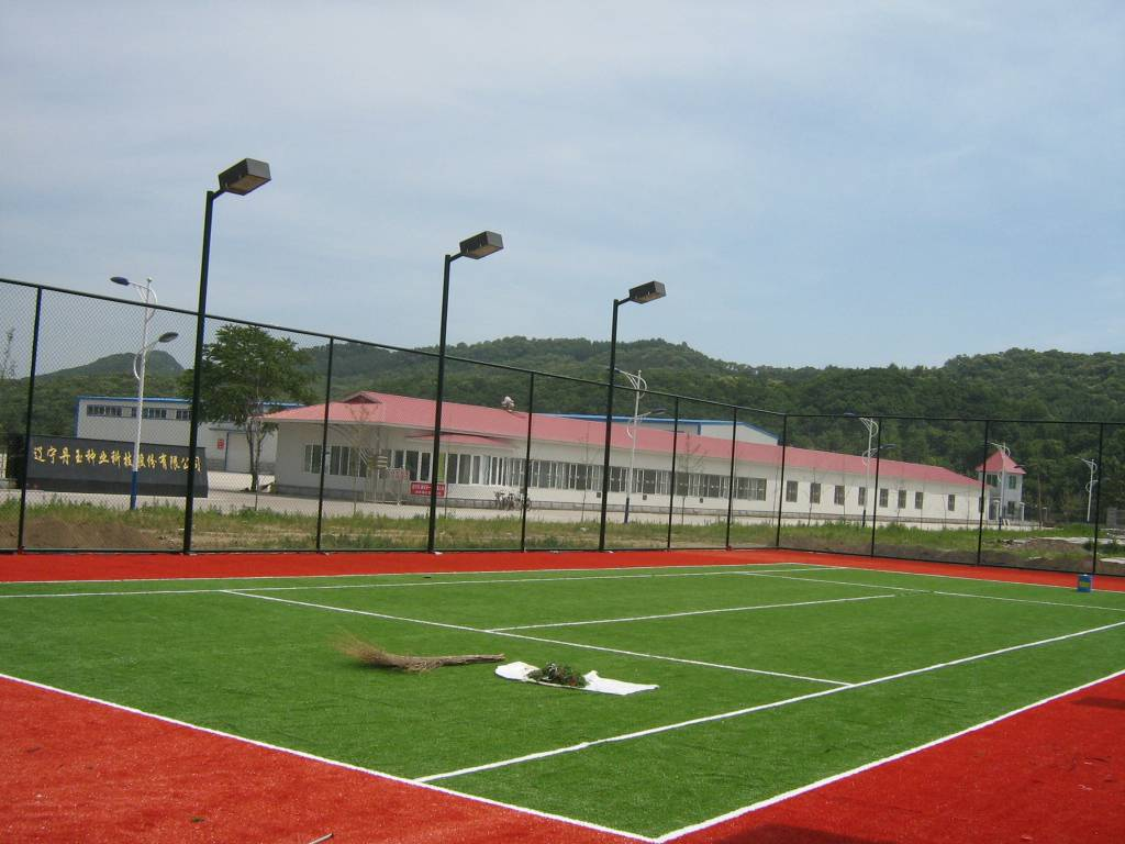 Tennis synthetic turf