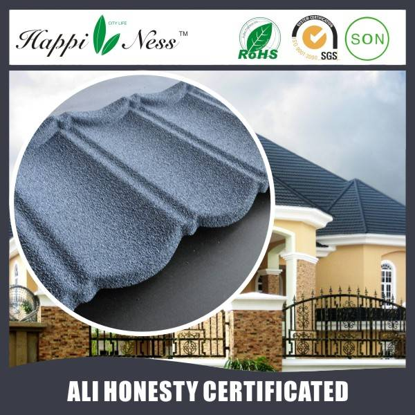 Happiness Natural Stone Corrugated Metal Roof Sheets Price With High Quality Stone Coated Roof Tile