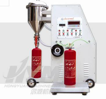 Automatic type fire extinguisher filling machine
