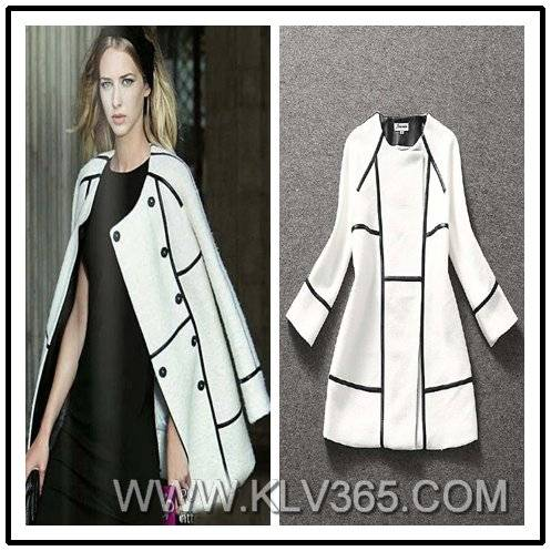 Latest Coat Designs Women Fashion Trendy Winter Wool Coat Wholesale