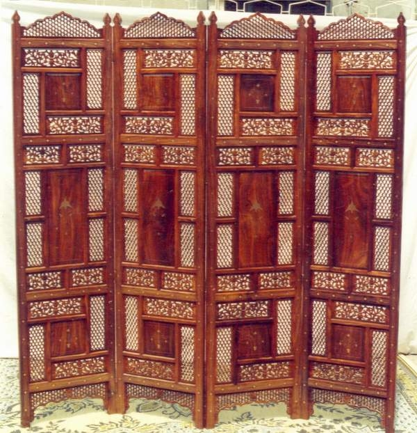 Screen  wooden hand carved